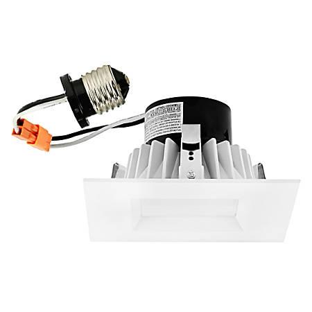 "Luminoso LED Downlight Retrofit Square Trim Fixture, 6"", 4,000 Kelvin, 16 Watt, 1,120 Lumens"