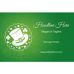 Custom Banner Horizontal St Patricks Hat