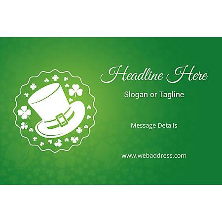 Custom Banner, Horizontal, St. Patrick's Hat