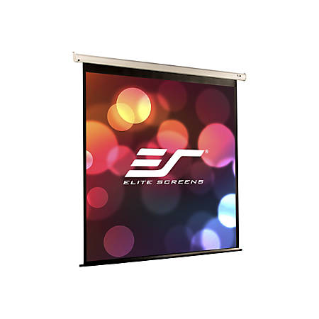 "Elite Screens VMAX2 Series VMAX84XWH2 - Projection screen - ceiling mountable, wall mountable - motorized - 84"" (83.9 in) - 16:9 - MaxWhite - white"