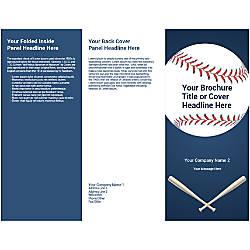 Customizable Trifold Brochure Blue Baseball