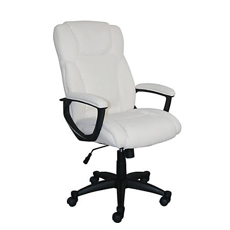 Serta Style Hannah II High-Back Office Chair, Microfiber, Harvard Ivory/Black