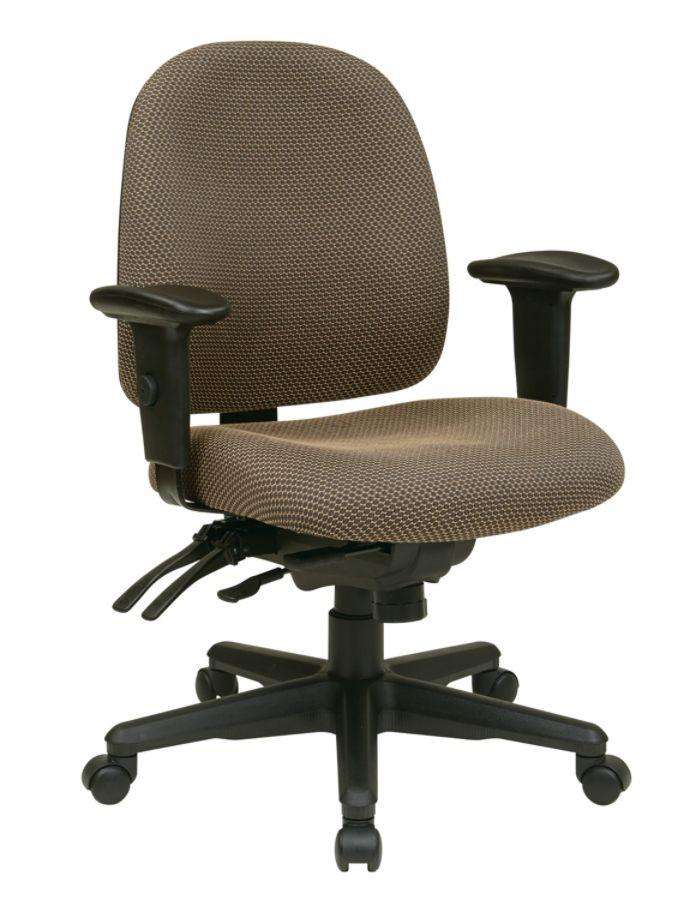 Strange Office Star Work Smart Ergonomic Multifunction Mid Back Chair 41 1 2H X 25W X 25 1 2D Taupe Black Pdpeps Interior Chair Design Pdpepsorg