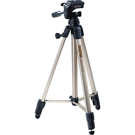 "Sunpak Floor Standing Tripod - 21.30"" to 58.30"" Height - 4.40 lb Load Capacity"