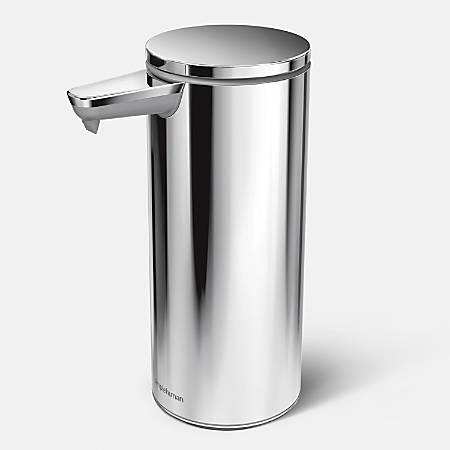 simplehuman Sensor Soap Pump, 9 Oz, Polished Steel