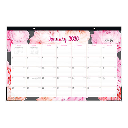 "Blue Sky™ Monthly Desk Pad, 17"" x 11"", Joselyn, January To December 2020, 102715"
