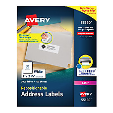 Avery Repositionable Address Labels 55160 1