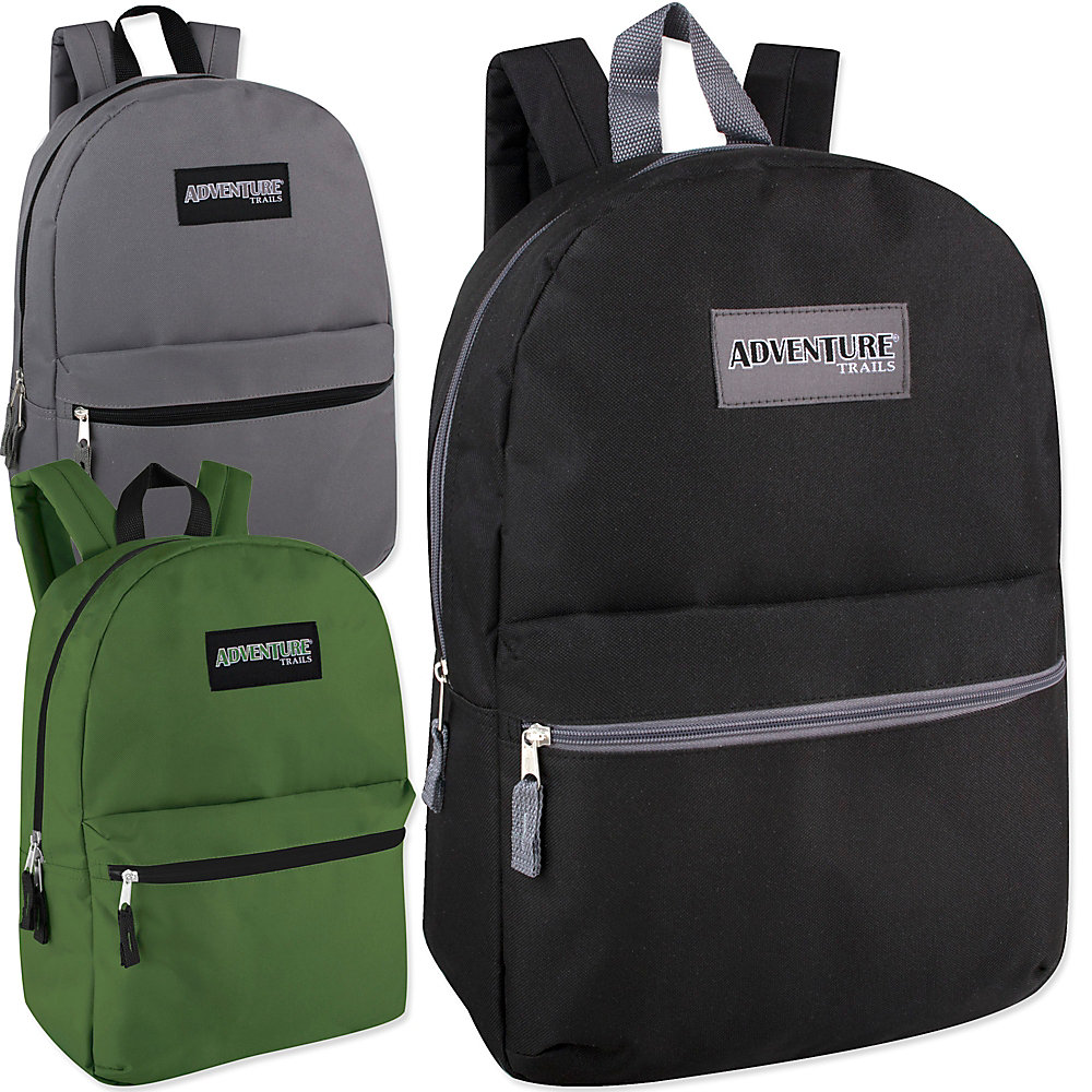 Trailmaker Classic Backpacks, Assorted Colors, Pack Of 24 Backpacks