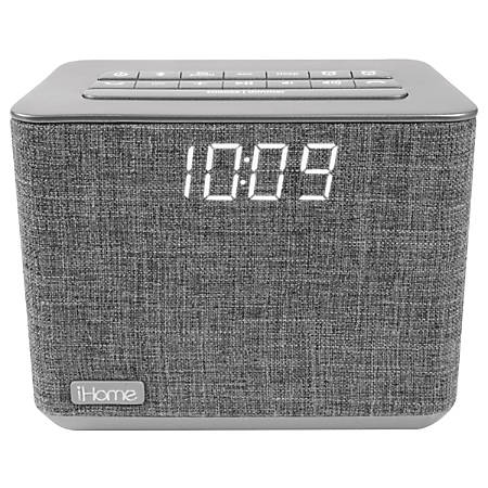 iHome Bluetooth® Dual Alarm FM Clock Radio, Gray