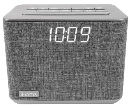 iHome Bluetooth® Dual Alarm FM Clock Radio, Gray Item # 9790026