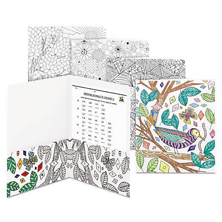 Smead® 2-Pocket Coloring Folders, Letter Size, White, Pack Of 12 Folders