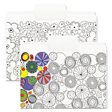 Smead SuperTab Coloring File Folders Letter
