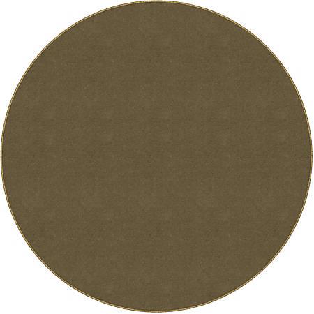 Flagship Carpets Americolors Rug, Round, 6', Almond