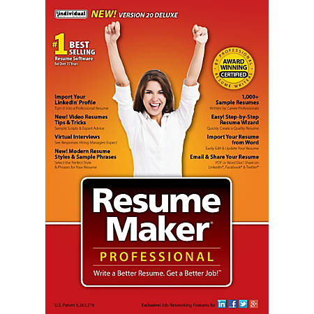 Resumemaker Professional Pro Deluxe 20, Traditional Disc