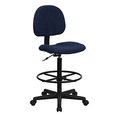 Flash Furniture Ergonomic Adjustable Drafting Chair, Navy/Black