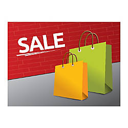 Plastic Sign Sale Carry Bags Horizontal
