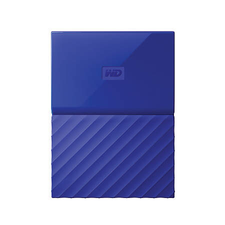 Western Digital® 2TB Portable External My Passport™, WDBS4B0020BBL-WESN, Blue