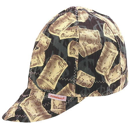 Deep Round Crown Caps, Size 8, Assorted Prints