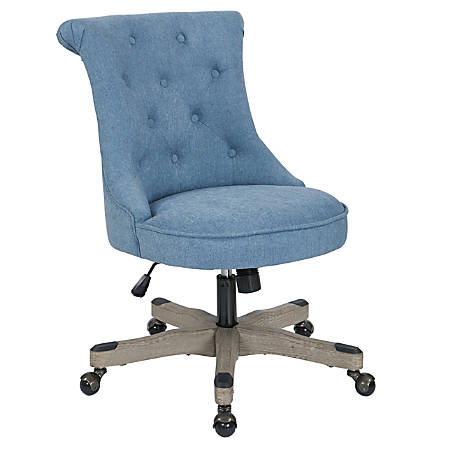 Office Star™ Hannah Tufted Office Chair, Sky/Gray