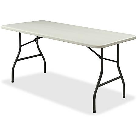 Lorell® Ultra-Lite Economy Folding Table, 6'W, Gray