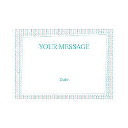 Flat Photo Greeting Card Pink Blue