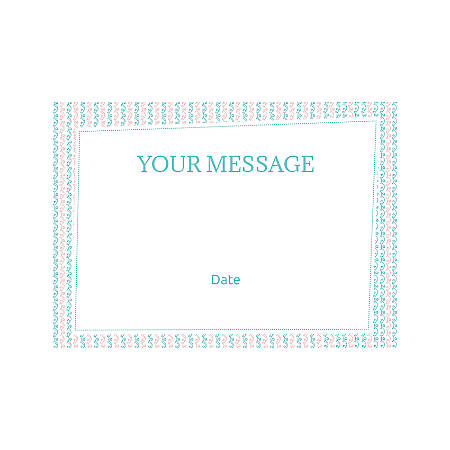 Flat Photo Greeting Card, Pink Blue Pattern, Horizontal