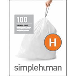 simplehuman Custom Fit 003 mil Trash