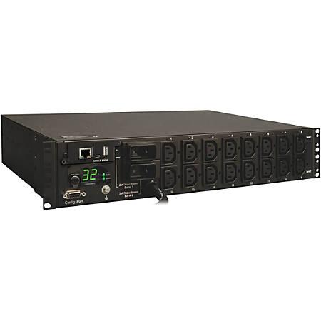 Tripp Lite PDU Switched 230V 32A 7.4kW 16 C13 Outlet IEC-309 Horizontal 2U TAA