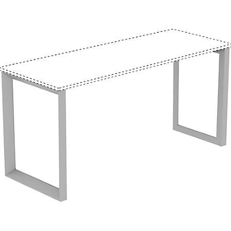 "Lorell® Relevance Series Desk Leg Frame, Silver, 23.3"" Desk Height"