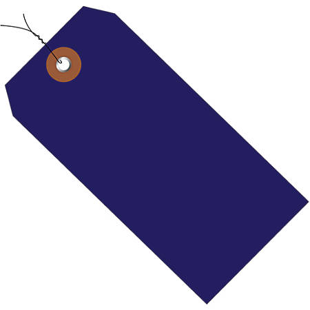 """Office Depot® Brand Prewired Plastic Shipping Tags, 4 3/4"""" x 2 3/8"""", Blue, Case Of 100"""