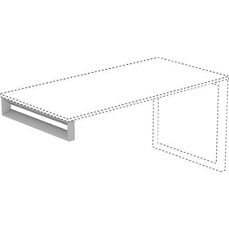 """Lorell® Relevance Series Desk Leg Frame, Short Side, Silver, For 29 1/2""""D Desk"""