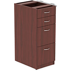 Lorell Relevance Series Pedestal File Mahogany