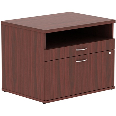 Lorell Relevance Series Open Credenza File Cabinet Mahogany By Office Depot Officemax