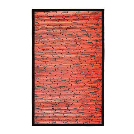 "Anji Mountain Cobblestone Mahogany Bamboo Rug, 24"" x 36"", Brown"
