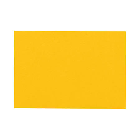 "LUX Flat Cards, A7, 5 1/8"" x 7"", Sunflower Yellow, Pack Of 1,000"