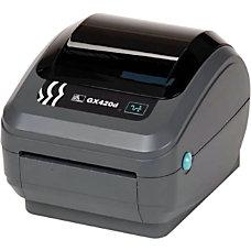 Zebra GX420d Direct Thermal Printer Monochrome