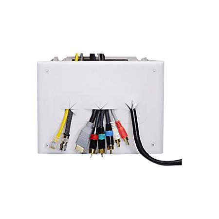 DataComm 45-0010-WH Recessed Media Box - White