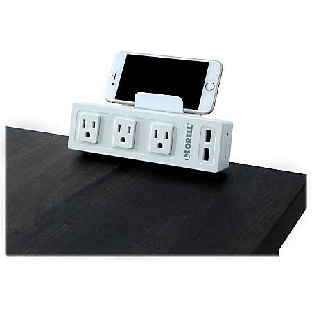 Lorell® AC/USB Power Center, Desktop Mount, White