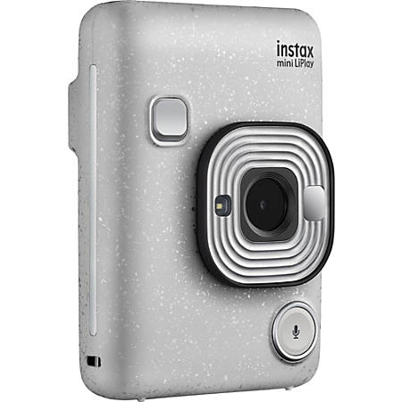 "instax mini LiPlay Instant Digital Camera - Stone White - 2.7"" LCD - 2560 x 1920 Image"