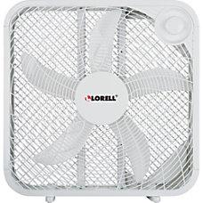 Lorell 3 Speed Box Fan White