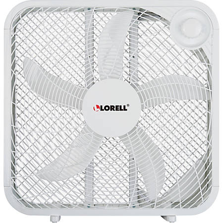 Lorell® 3-Speed Box Fan, White