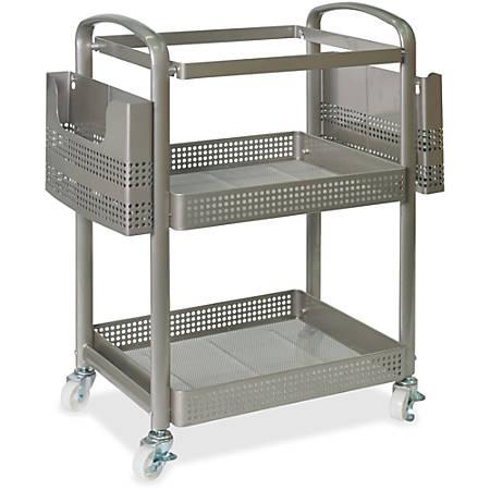 Lorell® Mobile Metal File Cart, Champagne