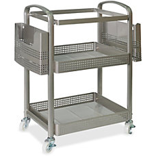 Lorell Mobile Metal File Cart Champagne