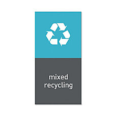 simplehuman Magnetic Trash Label Mixed Recycling