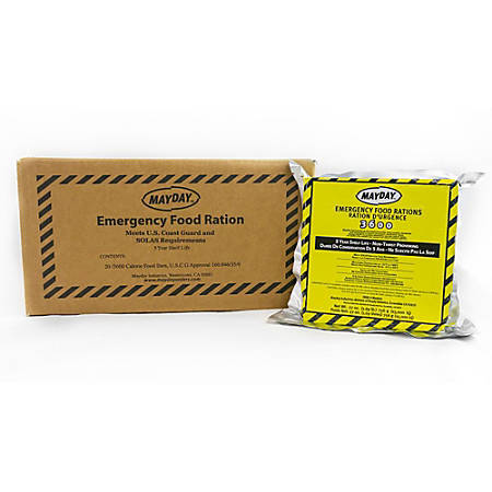 Mayday Industries Emergency Food Bars, 3,600 Calories, Case Of 20 Bars