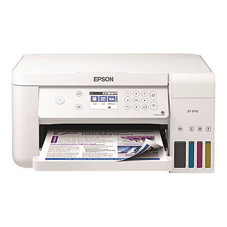 Epson® WorkForce® ET-3760 EcoTank® Color Inkjet All-In-One Printer, Copier, Scanner, C11CG20203