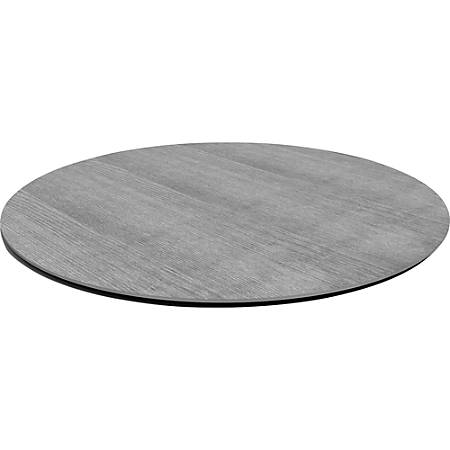 """Lorell® Laminate Knife-Edge Round Conference Table Top, 48""""W, Charcoal"""