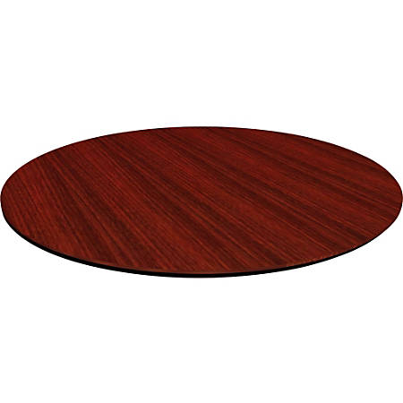 """Lorell® Laminate Knife-Edge Round Conference Table Top, 48""""W, Mahogany"""