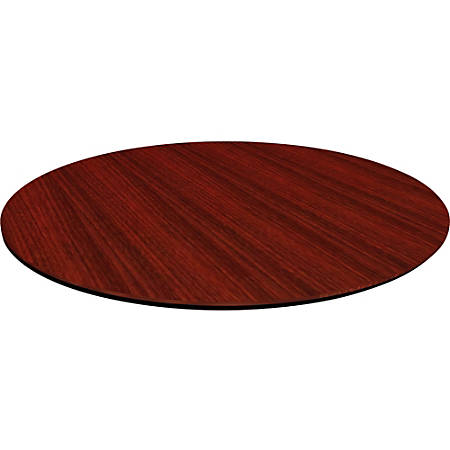 "Lorell® Laminate Knife-Edge Round Conference Table Top, 42""W, Mahogany"