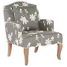 Linon Caroline Arm Chair Gray Floral